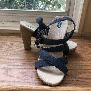 Dr Scholl's  Womens Size 7 M Bleu Jeans Strappy